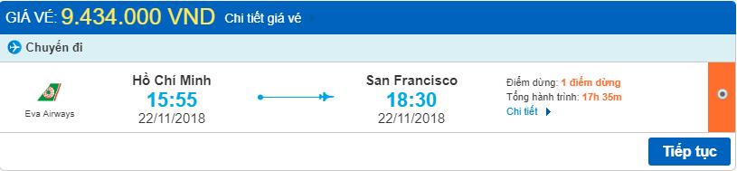 Giá vé máy bay từ TPHCM đi San Francisco